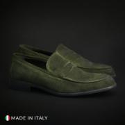 Mocasini Guido Bassi 5082_CAMOSCIO Verde