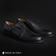 Pantofi Duca Di Morrone 600_PELLE Negru