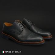 Pantofi siret Duca Di Morrone 322_PELLE Albastru