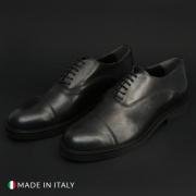 Pantofi siret Duca Di Morrone 603_CRUST Negru