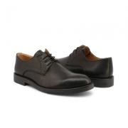 Pantofi siret Duca Di Morrone ST600_PELLE Negru
