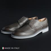 Pantofi siret Duca Di Morrone 604_PELLE Gri