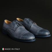 Pantofi siret Duca Di Morrone 605_CERATO Albastru