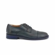 Pantofi siret Duca Di Morrone 605_PELLE Albastru