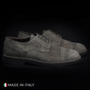 Pantofi siret Madrid 607_CAMOSCIO Maro