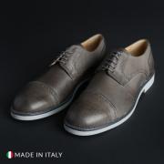 Pantofi siret Duca Di Morrone 607_PELLE Gri