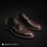 Pantofi siret Madrid CL604_ABRAS Maro