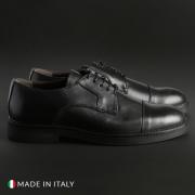 Pantofi siret Madrid CL604_PELLE Negru
