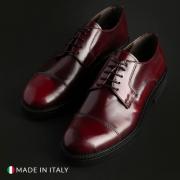 Pantofi siret Madrid CL605_ABRASIVATO Rosu