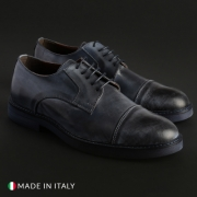 Pantofi siret Duca Di Morrone CL605_PELLE Albastru