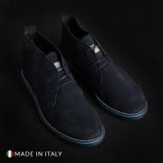 Pantofi siret Duca Di Morrone 233_CAMOSCIO Albastru