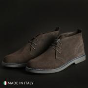 Pantofi siret Duca Di Morrone 233_CAMOSCIO Gri