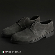 Pantofi siret Off-box 058_CAMOSCIO Gri