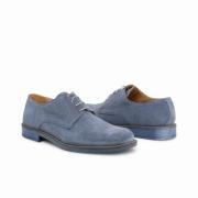 Pantofi siret Duca Di Morrone 06_CAMOSCIOBUCATO Albastru