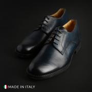 Pantofi siret Sb 3012 100_VITELLO Albastru