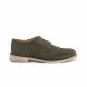Pantofi siret Duca Di Morrone 208_CAMOSCIOBUCATO Verde