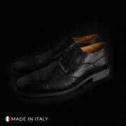 Pantofi siret Duca Di Morrone S2_CRUST Negru