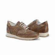 Pantofi sport Duca Di Morrone 405_MORATA_PELLE Maro