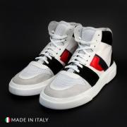Pantofi sport Duca Di Morrone TJ02_CAMOSCIO Alb