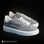 Pantofi sport Duca Di Morrone CALIFORNIA_CAMOSCIO Gri