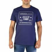 Tricouri Versace Jeans B3GTB76E_36610 Albastru
