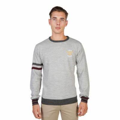 Pulovere Oxford University OXFORD_TRICOT-CREWNECK Gri