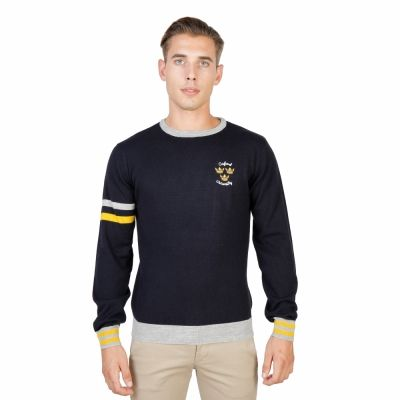 Pulovere Oxford University OXFORD_TRICOT-CREWNECK Albastru