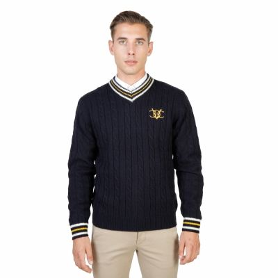 Pulovere Oxford University OXFORD_TRICOT-CRICKET Albastru
