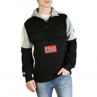 Bluze sport Geographical Norway Fagostino007_man Negru
