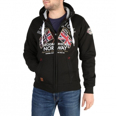 Bluze sport Geographical Norway Flepto100_man Negru