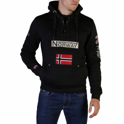 Bluze sport Geographical Norway Gymclass007_man Negru