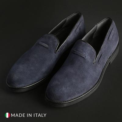 Mocasini Off-box 1380_CAMOSCIO Albastru