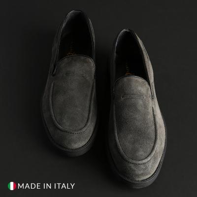 Pantofi siret Duca Di Morrone 1380D_CAMOSCIO Gri