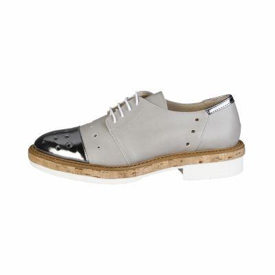 Pantofi siret Made In Italia LETIZIA Gri
