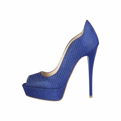 Pantofi cu toc V 1969 ARIANE Albastru