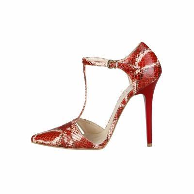 Pantofi cu toc V 1969 CORALIE Rosu