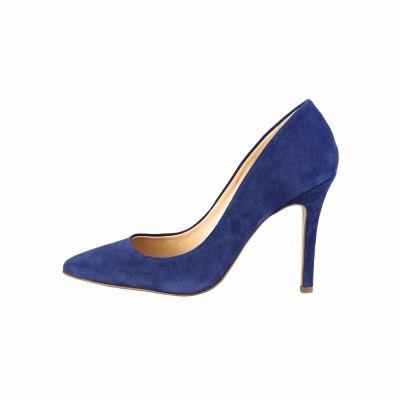 Pantofi cu toc V 1969 MATHILDE_CAMO Albastru