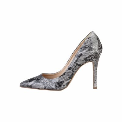 Pantofi cu toc V 1969 MATHILDE_COBRA Gri