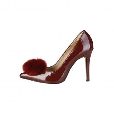 Pantofi cu toc V 1969 MAEVA Rosu