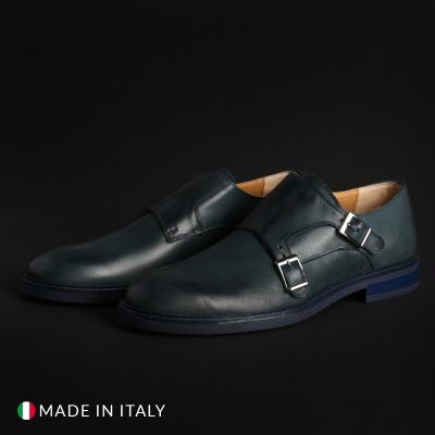 Pantofi Duca Di Morrone 600_PELLE Albastru