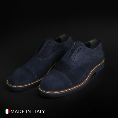 Pantofi Madrid 700_CAMOSCIO Albastru