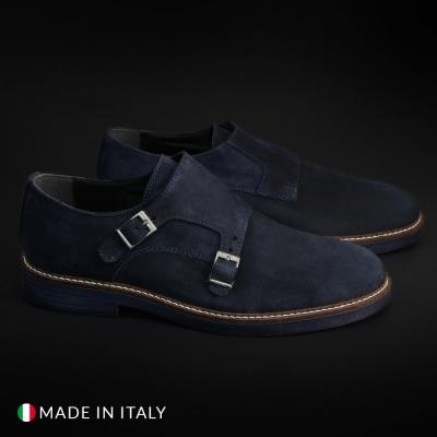 Pantofi Madrid CL600_CAMOSCIO Albastru