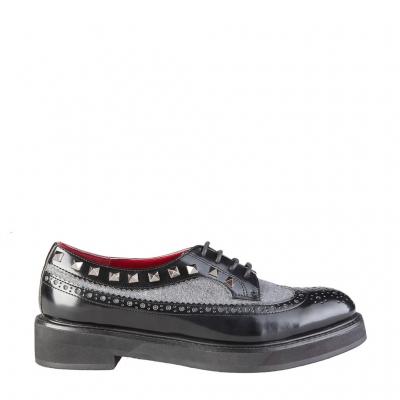 Pantofi siret Ana Lublin KRISTINA Negru