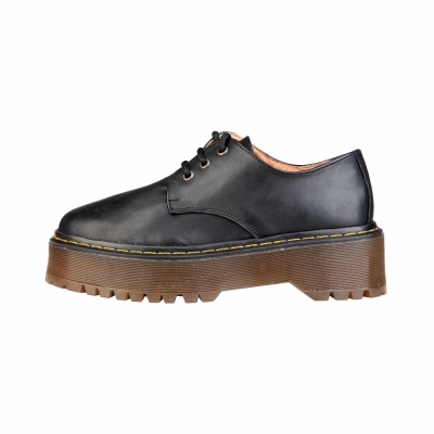 Pantofi siret Ana Lublin LISBET Negru