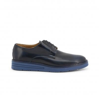 Pantofi siret Duca Di Morrone 06_ABRASIVATO Albastru