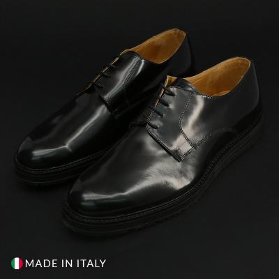 Pantofi siret Duca Di Morrone 06_ABRASIVATO Negru