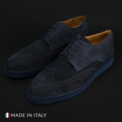 Pantofi siret Duca Di Morrone 208_BONUCCI_CAM Albastru