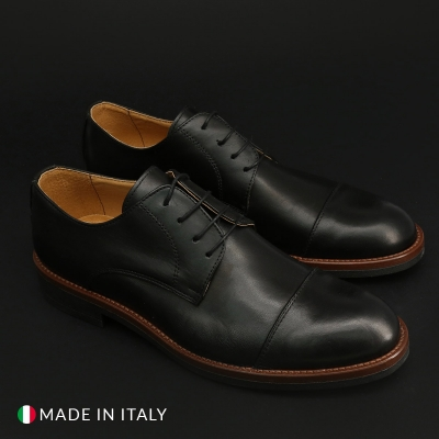 Pantofi siret Duca Di Morrone 322_PELLE Negru
