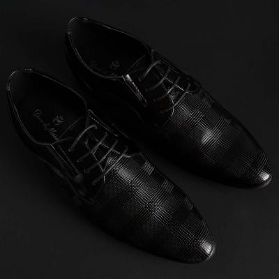 Pantofi siret Duca Di Morrone CLARK Negru