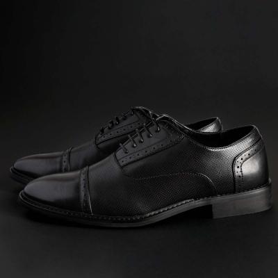 Pantofi siret Duca Di Morrone DRAKE Negru